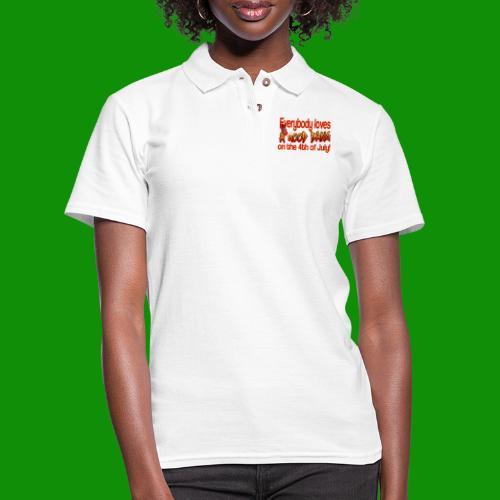 4th of July Bang - Women's Pique Polo Shirt