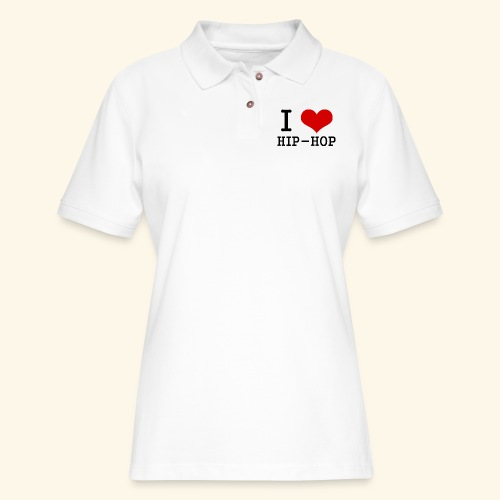 I love Hip-Hop - Women's Pique Polo Shirt