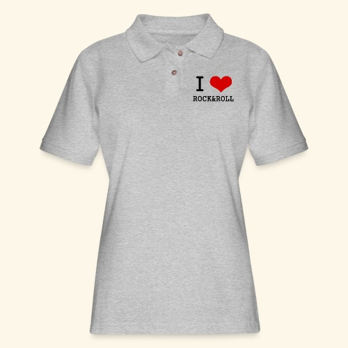 I love rock and roll - Women's Pique Polo Shirt