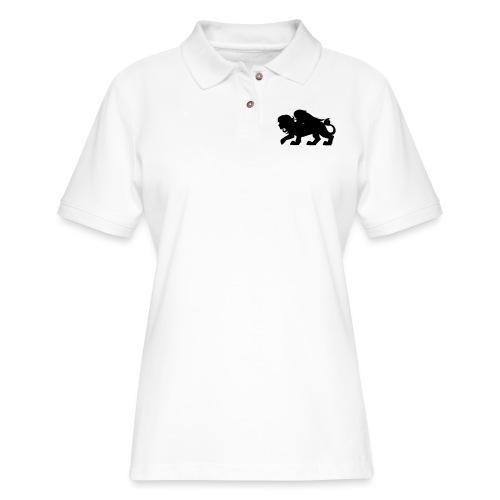 Sphynx Silhouette - Women's Pique Polo Shirt