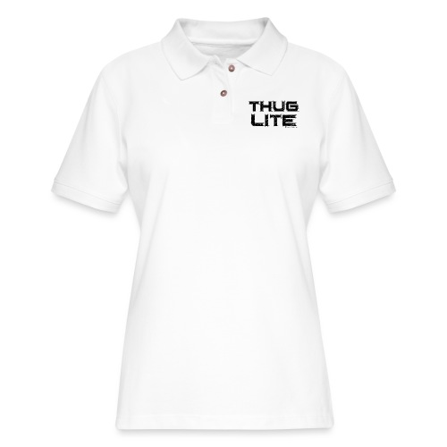 Thug Lite BLK.png - Women's Pique Polo Shirt