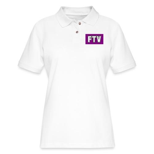 Purple FTV Logo Design - Women's Pique Polo Shirt