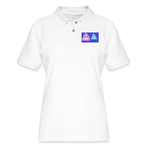 blue and pink poop - Women's Pique Polo Shirt