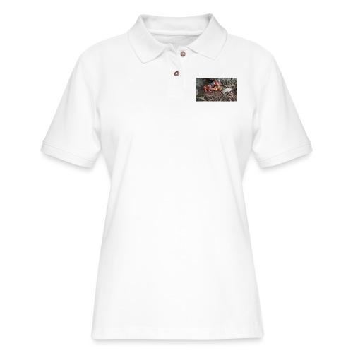 Red Crab - Women's Pique Polo Shirt