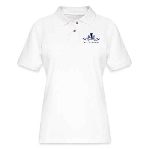 FitbyFaith back png - Women's Pique Polo Shirt