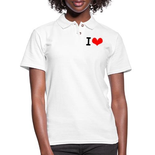 I Love what - Women's Pique Polo Shirt