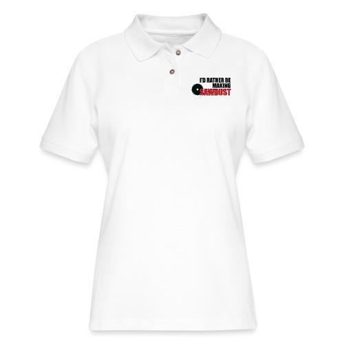 I'd Rather Be - Women's Pique Polo Shirt