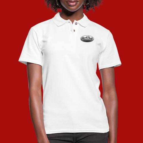 BloodShot Logo Black/White - Women's Pique Polo Shirt