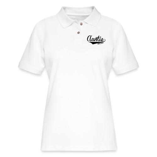 Auntie Since 2014 - Women's Pique Polo Shirt