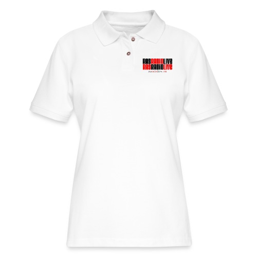 rasradiolive png - Women's Pique Polo Shirt