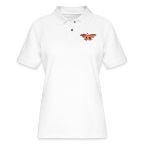RED LUNA MOTH - Women's Pique Polo Shirt