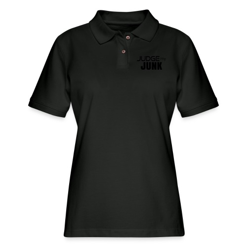 Judge my Junk Tshirt 03 - Women's Pique Polo Shirt