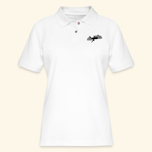 plane - Women's Pique Polo Shirt