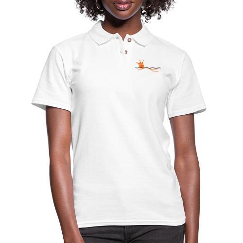 Winky Swimming King - Women's Pique Polo Shirt