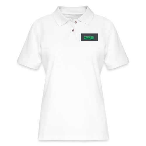 xavbro green logo - Women's Pique Polo Shirt