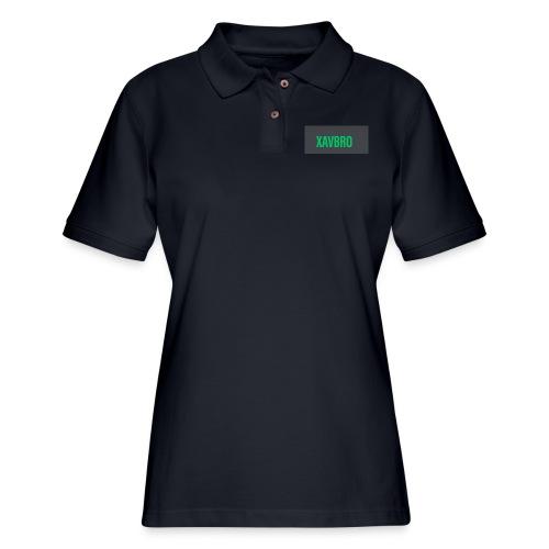 xavbro green logo - Women's Pique Polo Shirt