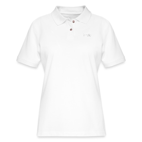 Inhale thin font - Women's Pique Polo Shirt