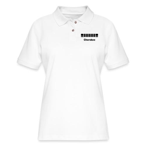 XJ Cherokee + front - Women's Pique Polo Shirt