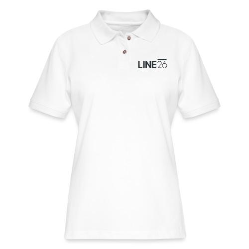 Line26 Logo (Dark Version) - Women's Pique Polo Shirt