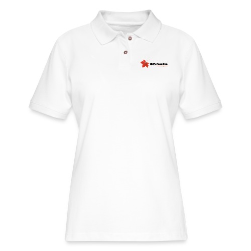 100% Canadian - Women's Pique Polo Shirt