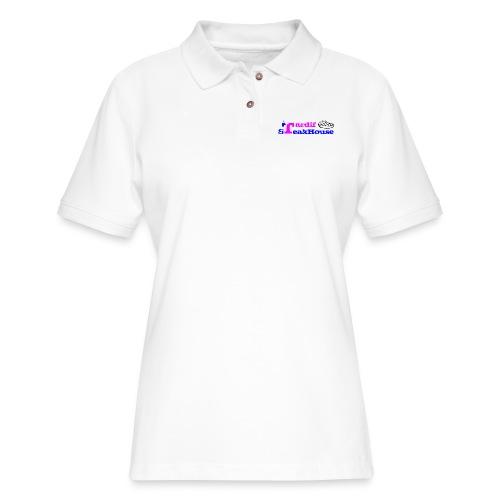 Tardif SteakHouse Blue Pink - Women's Pique Polo Shirt