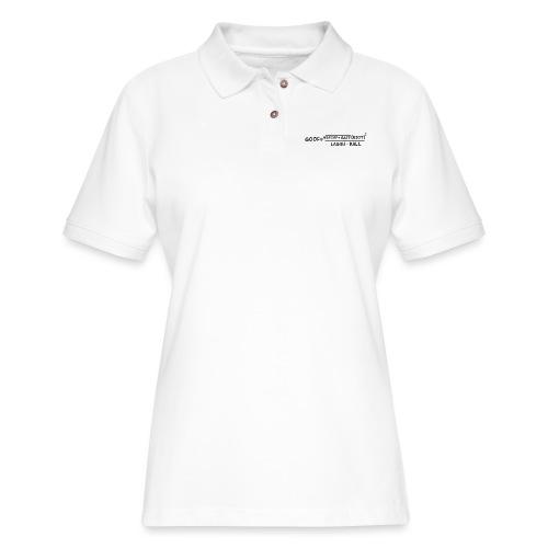 gaff text transparent - Women's Pique Polo Shirt