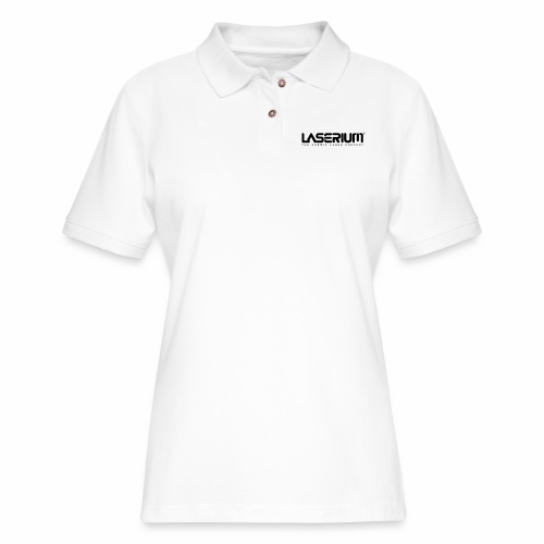 LaseriumLogo SolidBlack Tag - Women's Pique Polo Shirt