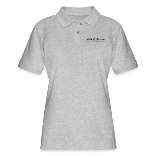 Muslim Collective Logo + tagline - Women's Pique Polo Shirt