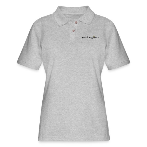 Spread Happiness Women's T-shirt - Women's Pique Polo Shirt