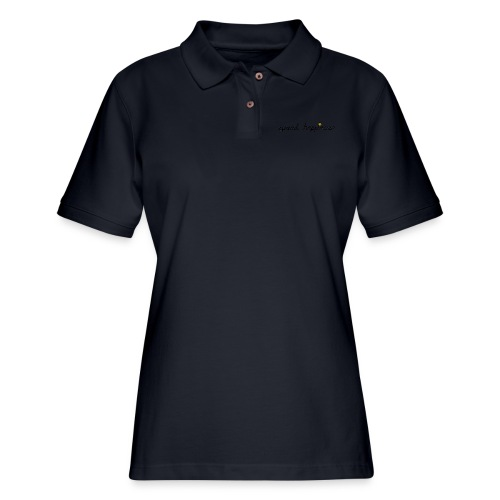 Spread Happiness Women's T-shirt - Women's Pique Polo Shirt