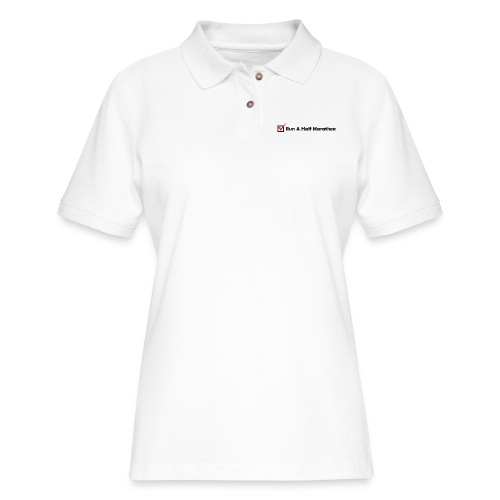 RUN HALF MARATHON CHECK - Women's Pique Polo Shirt
