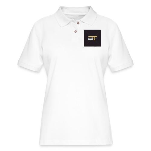 BT logo golden - Women's Pique Polo Shirt