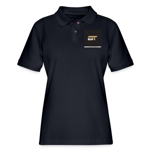 BT logo golden - Women's Pique Polo Shirt