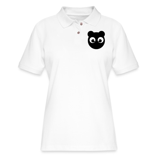 BearBun - Black - Women's Pique Polo Shirt