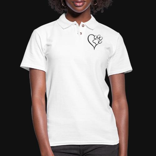 Pawprint on my Heart - Women's Pique Polo Shirt