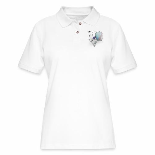 Dolphin in Space - Women's Pique Polo Shirt