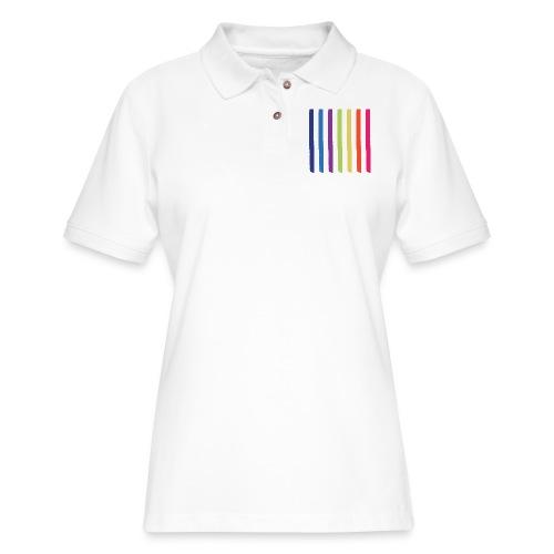 Rainbow Lines - Women's Pique Polo Shirt