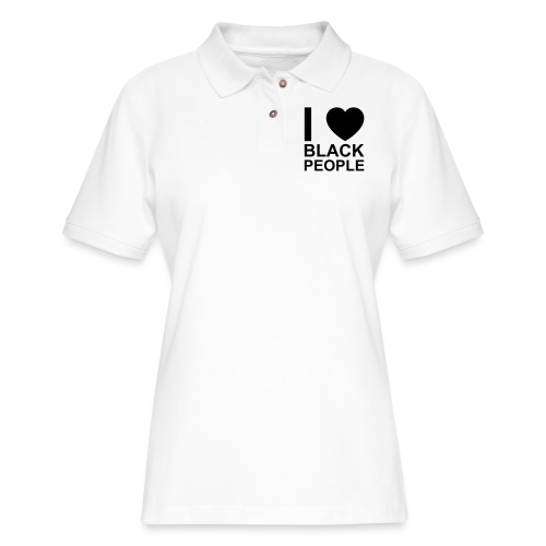 I love Black people - Women's Pique Polo Shirt