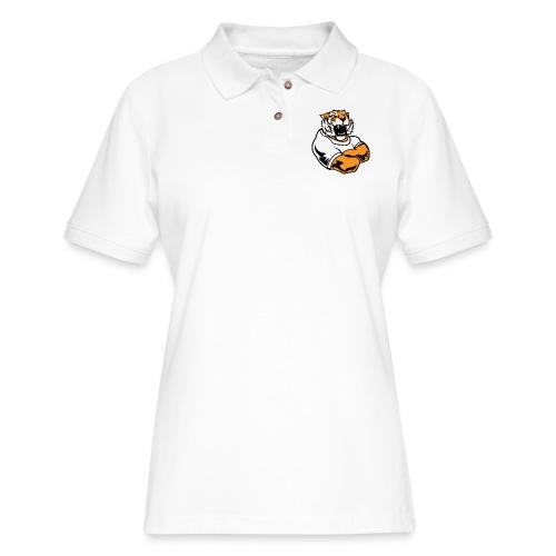 Cool Custom Tiger Macot - Women's Pique Polo Shirt