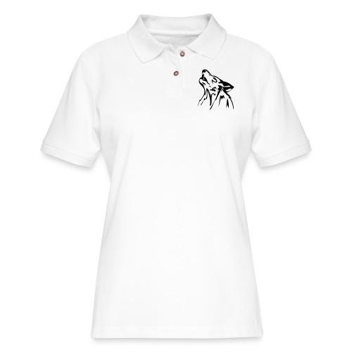 wolf - Women's Pique Polo Shirt