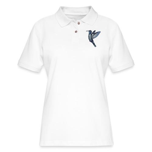 Hummingbird in flight - Women's Pique Polo Shirt