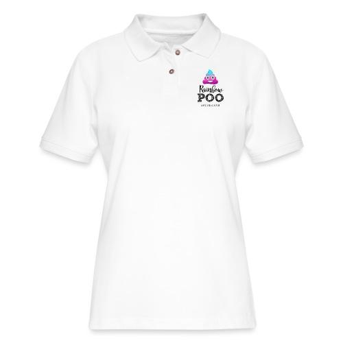 Rainbow Poo - Women's Pique Polo Shirt