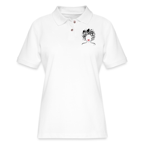Global Couture logo_curly girl Phone & Tablet Case - Women's Pique Polo Shirt