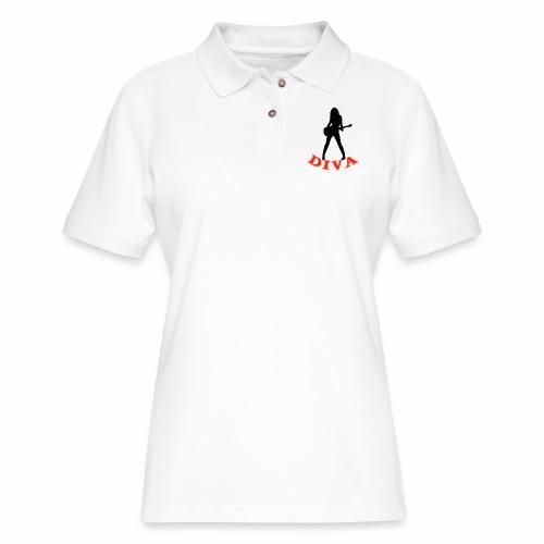 Rock Star Diva - Women's Pique Polo Shirt