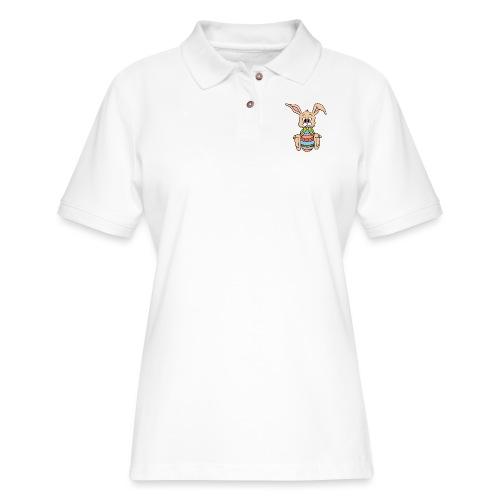 Easter Bunny Shirt - Women's Pique Polo Shirt