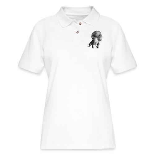 Cute Curious Squirrel - Women's Pique Polo Shirt
