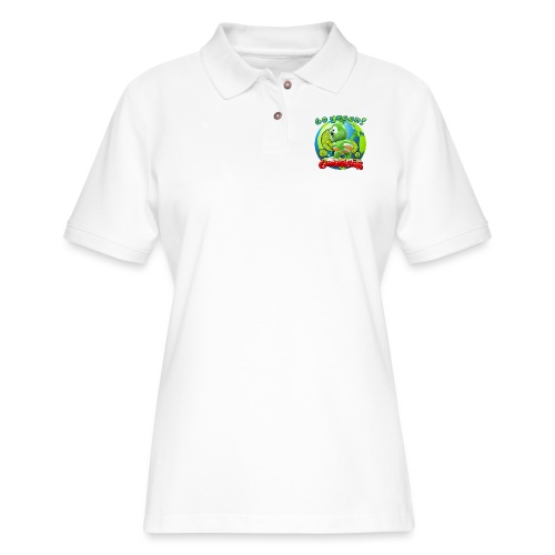 Gummibär Go Green Earth Day Earth - Women's Pique Polo Shirt