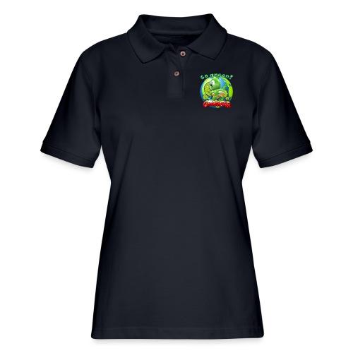 Gummibär Go Green Earth Day Earth - Women's Pique Polo Shirt