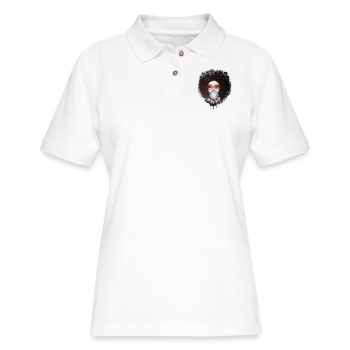 Afro pop_ - Women's Pique Polo Shirt