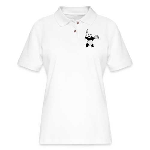 Panda Baseball - Women's Pique Polo Shirt